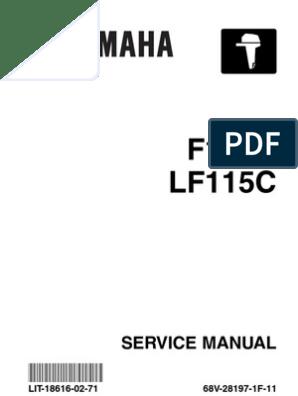 Yamaha Outboard F115 Service Repair Manual | Motor Oil | Vehicle