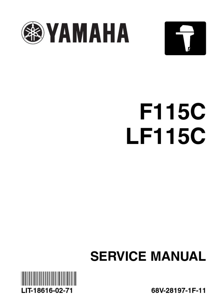 Yamaha Outboard F115 Service Repair Manual | Motor Oil | Throttle