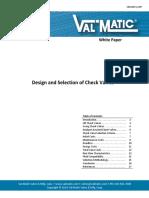 DesignSelectionCheckValves