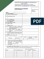 CKD IMT Job Application Proforma