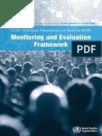 Monitorign and Evaluation Framwork