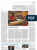 El Gobierno pretende duplicar en 2011 los alumnos de FP a distancia