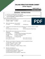 NTSE Stage- 2 Online Practice Work Sheet- Biology -6