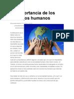 La importancia de los derechos humanos