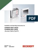 Datasheet CP6606 Beckhoff