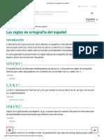 Las reglas de ortografía del español