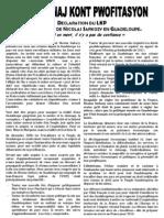 Sarkozy en Guadeloupe - Kominiké LKP - 09.01