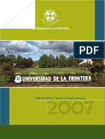 Memoria UFRO 2007