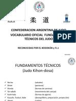 VOCABULARIO OFICIAL C.A.J. I° LOS FUNDAMENTOS DEL JUDO