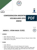 VOCABULARIO OFICIAL C.A.J. IV° ANEXO TÉCNICAS