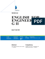 Modul English for Engineering II [TM7]