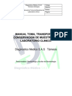 Manual de tomas de Muestras de Laboratorio
