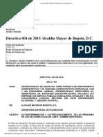 Directiva 004 de 2015