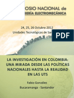 INVESTIGACION UTS - Fabio González