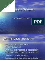 Barriers & Gateways