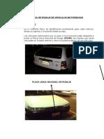 CLASES DE PLACAS DE VEHICULOS MOTORIZADOS
