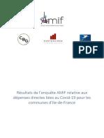 Etude AMIF Coût Crise Sanitaire Communes Juin 2020