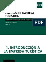 t1 Formas de Empresa Turistica