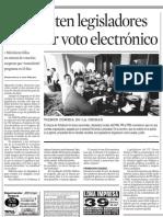 18.10.2006 Prometen legisladores reactivar voto electrónico