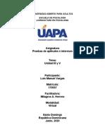 Tareas III y V Interese y aptitudes Luis Manuel Vargas 17-0057