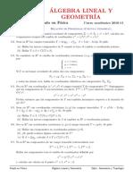 Problemas (temas 8) Cálculo tensorial