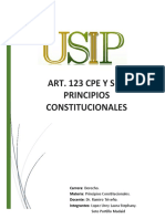 ART. 123 CPE Y SUS PRINCIPIOS CONSTITUCIONALES BOLIVIA