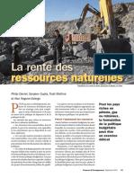La rente des ressources naturelles