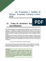 11. Toma de decisiones bajo Riesgo e incertidumbre