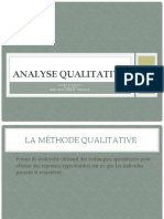 Analyse qualitative  cours