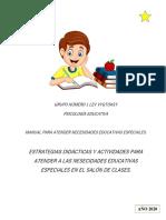 MANUAL PARA NIÑOS CON NECESIDADES EDUCATIVAS ESPECIALES
