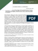 """Balbi, Fernando Alberto. (2019). """"Republicansmo, Política y Antipolítica"""". Filo Debate. Secretaría de Investigación, Facultad de Filosofía y Letras Universidad de Buenos Aires."""