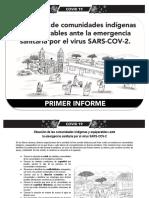 Primer Informe Del Monitoreo a Comunidades Indigenas y Equiparables Ante La Emergencia Sanitaria Por El Virus SARS-COV-2