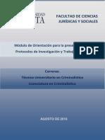 Guía para Protocolos y Trabajos Finales - Tecnic. y Lic. en Criminalística
