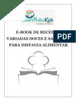 E-BOOK COM RECEITAS VARIADAS DOCES E SALGADAS