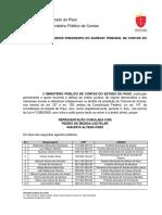REPRESENTAÇÃO TESTES RÁPIDOS MPC-PI PREFEITURA DE PICOS