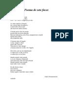 Poema de sete faces( analise)