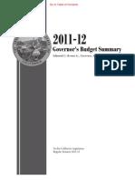 2011-12 Governor's Budget Summary