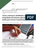 Clases a distancia_ debilidades e inequidades del sistema aplicado a básica y media para sortear la pandemia - El Mostrador
