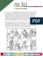 8 Metaphors for Teachers of Listening