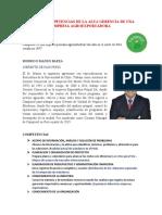 ROLES Y COMPETENCIAS DE LA ALTA GERENCIA DE UNA EMPRESA AGROEXPORTADORA