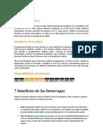 Beneficios Del Aguaymanto y Beterraga
