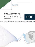 Sub Anexo 3.2 Manual de Instalación Para El Módulo de Acceso