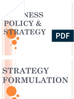 Business Policy and Strategy-- Business Formulation