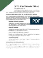 Role of CFO