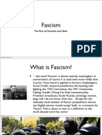 Fascism The Rise of Mussolini and Hitler