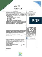 aplicacion de procedimientos
