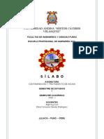 DCNR X CONTAMINACION Y TRATAMIENTO DE AGUAS.doc