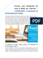 Comment Trouver Une Entreprise de Déménagement à Metz Sur Internet _ Le Guide de CARBODEM - L'Entreprise de Déménagement à Metz