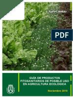 Guía de productos fitosanitarios de posible uso en agricultura ecológica