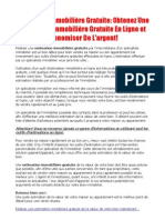 Estimation Immobiliere Gratuite